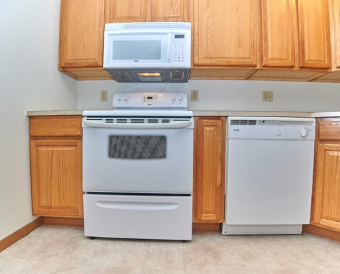 Kitchen Detail at PineView Apartments