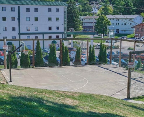 Basketball Court Detail at PineView Apartments