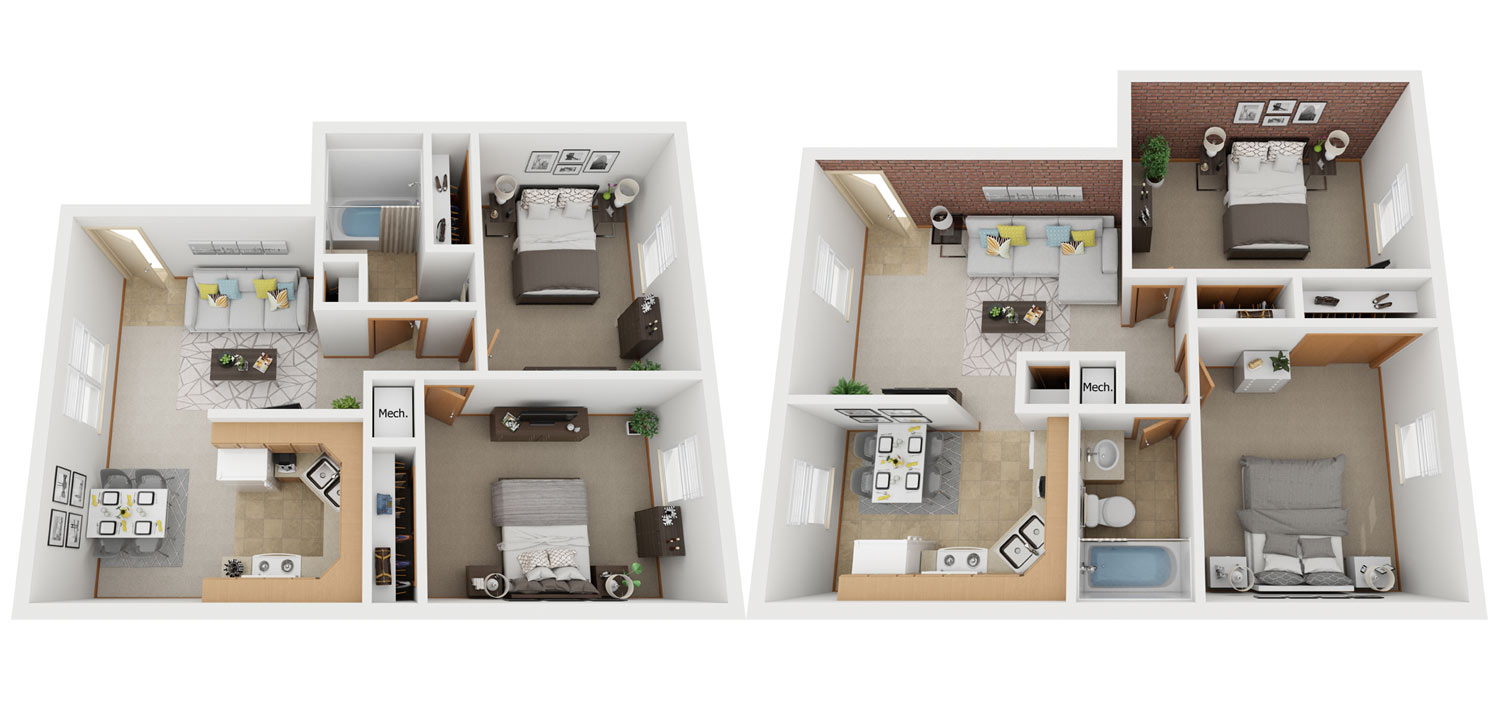 PineView Apartments Floor Plans